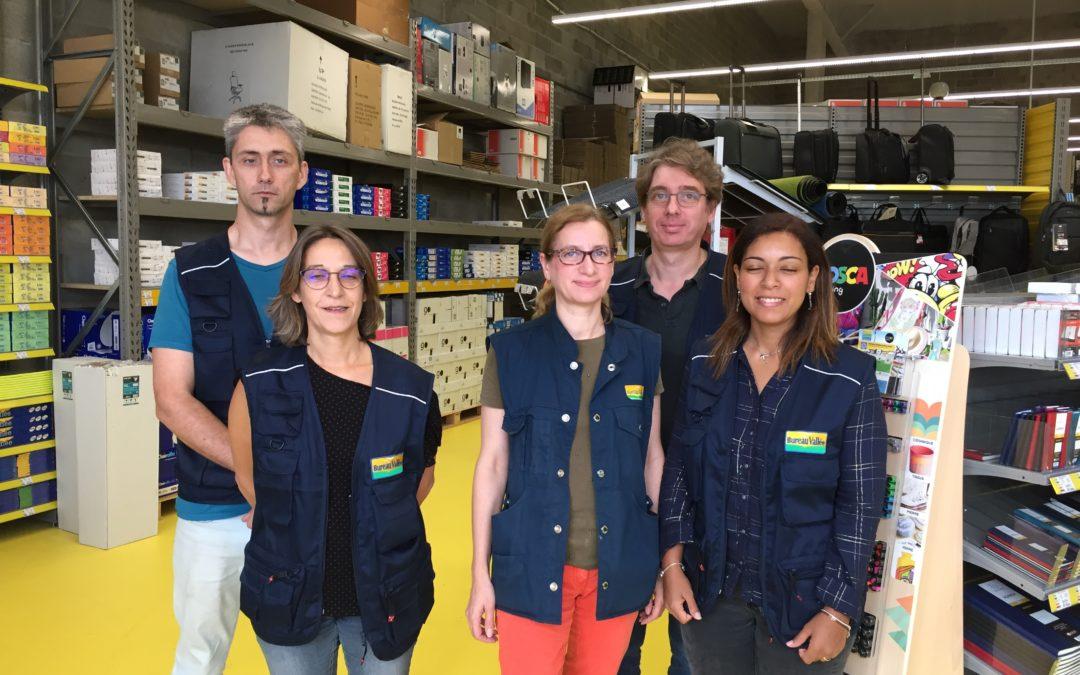 Bureau Vallée a ouvert un magasin à Cergy à l'approche de la rentrée scolaire